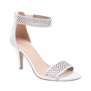Lane Bryant Perforated Laser Cut Ankle Strap Heels